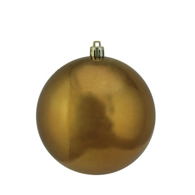 "Shiny Copper Brown UV Resistant Commercial Shatterproof Christmas Ball Ornament 4"" (100mm)"""