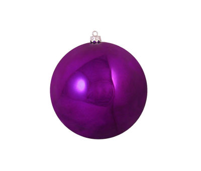 "Shiny Eggplant Purple Shatterproof Christmas BallOrnament 4"" (100mm)"""
