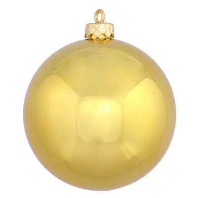"""Shiny Gold UV Resistant Commercial Drilled Shatterproof Christmas Ball Ornament 2.75"""" (70mm)"""""""