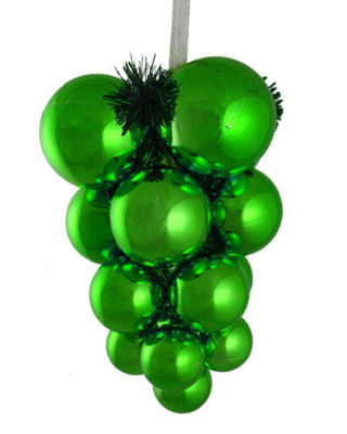 Shiny Green Shatterproof Christmas Ball Ornament Grape Cluster Decoration 10""