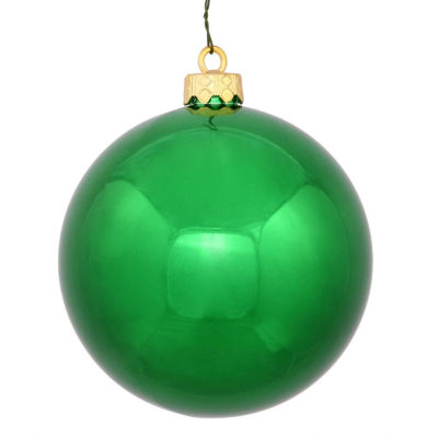 "Shiny Green UV Resistant Commercial Drilled Shatterproof Christmas Ball Ornament 2.75"" (70mm)"""