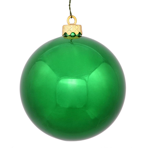 "Shiny Green UV Resistant Commercial Shatterproof Christmas Ball Ornament 4"" (100mm)"""