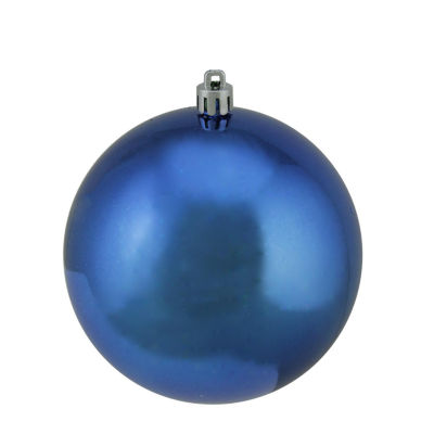"Shiny Lavish Blue UV Resistant Commercial Shatterproof Christmas Ball Ornament 4"" (100mm)"""