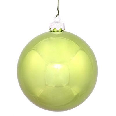 "Shiny Lime Green UV Resistant Commercial Shatterproof Christmas Ball Ornament 4"" (100mm)"""