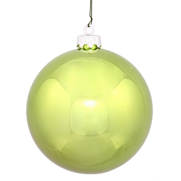 "Shiny Lime UV Resistant Commercial Drilled Shatterproof Christmas Ball Ornament 10"" (250mm)"""