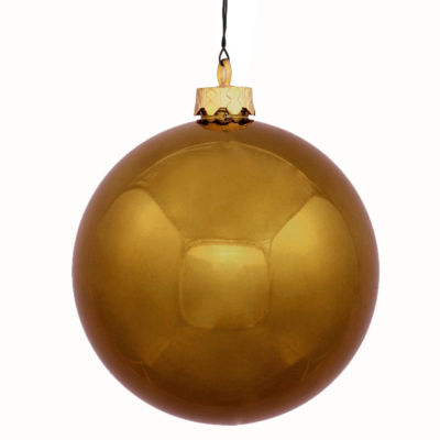 "Shiny Olive Green Commercial Shatterproof Christmas Ball Ornament 8"" (200mm)"""