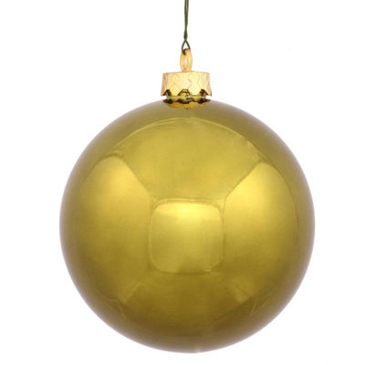 "Shiny Olive Green Shatterproof Christmas Ball Ornament 2.4"" (60mm)"""