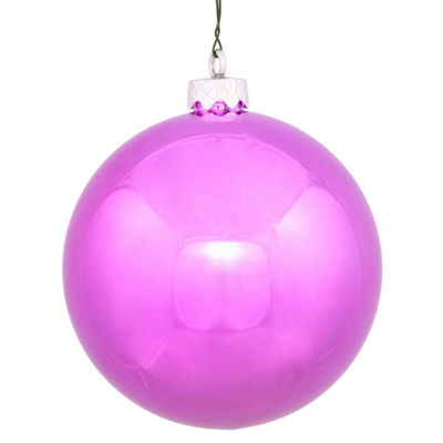 "Shiny Orchid Pink UV Resistant Commercial Shatterproof Christmas Ball Ornament 4"" (100mm)"""