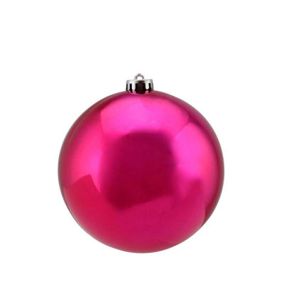 "Shiny Pink Magenta UV Resistant Commercial Shatterproof Christmas Ball Ornament 6"" (150mm)"""