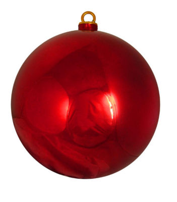 "Shiny Red Hot Commercial Shatterproof Christmas Ball Ornament 12"" (300mm)"""