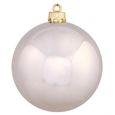 "Shiny Silver UV Resistant Commercial Drilled Shatterproof Christmas Ball Ornament 10"" (250mm)"""
