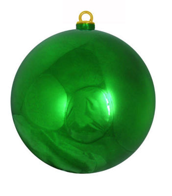 "Shiny Christmas Green Commercial Shatterproof Christmas Ball Ornament 12"" (300mm)"""