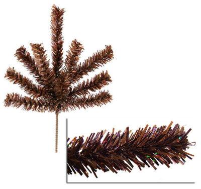 "Sparkling Chocolate Brown Christmas Craft Pick 7"""