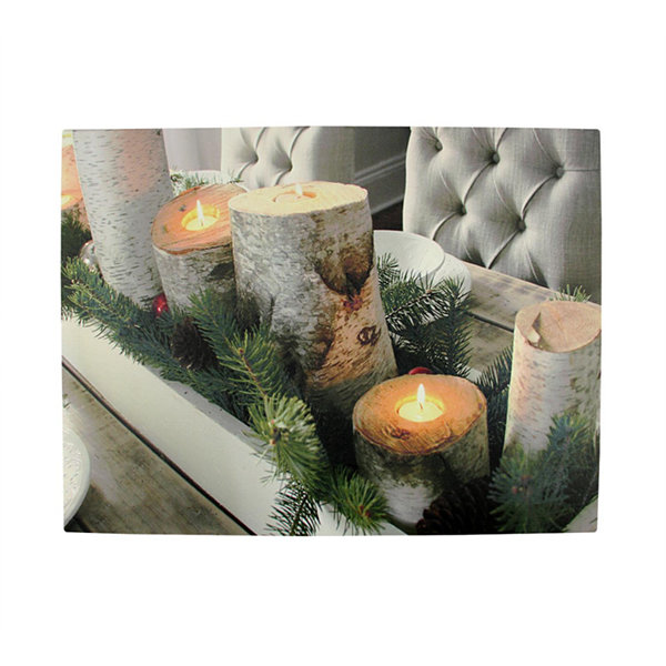 Led lighted flickering rustic lodge woodland birch candles led lighted flickering rustic lodge woodland birch candles christmas canvas wall art 1175 x 1575 aloadofball Images