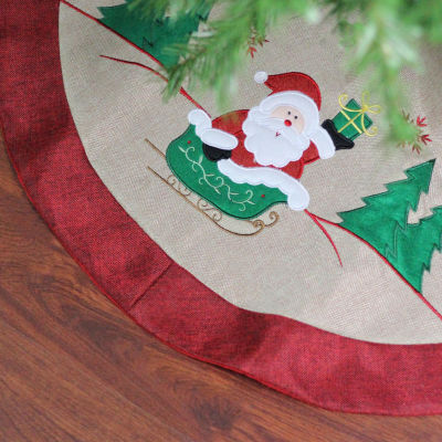"19"" Red and White ""Merry Christmas"" Tree Stocking with White Cuff"