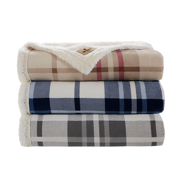 Woolrich Plush To Berber Throw