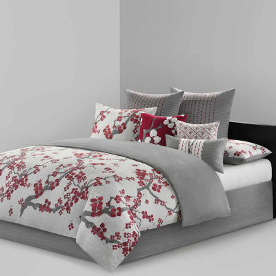 Cherry Blossom Cotton 4-pc. Floral Comforter Set