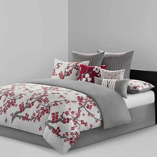 Cherry Blossom Cotton 4-pc. Floral Comforter Set