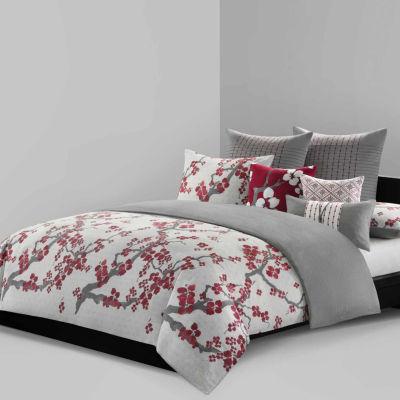 Cherry Blossom Cotton 3-pc. Floral Duvet Cover Set