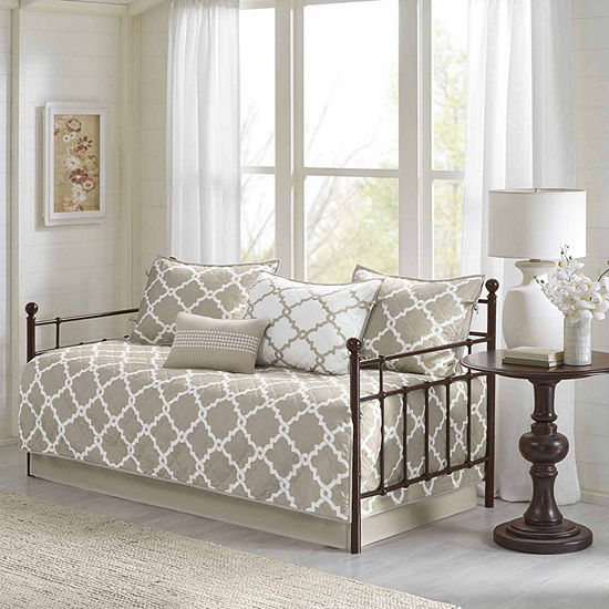 Madison Park Taupe Diablo Reversible 6-pc. Daybed Cover Set