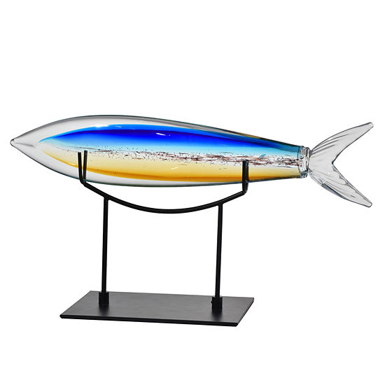 Dale Tiffany Fish W/ Stand Art Glass Sculpture