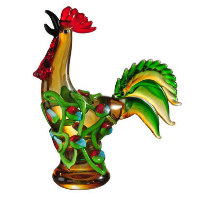 Dale Tiffany Wild Rooster Art Glass Sculpture