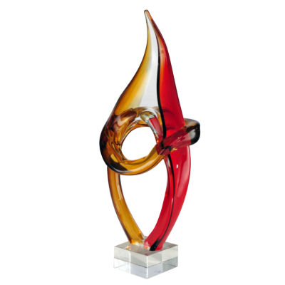 Dale Tiffany Salto Art Glass Sculpture