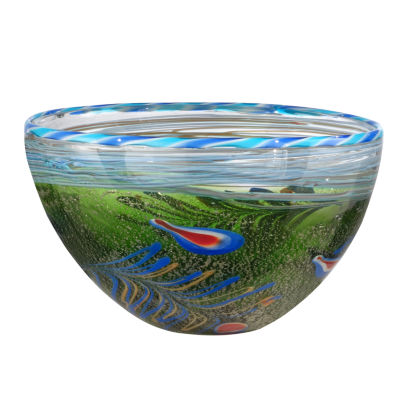 Dale Tiffany Fossio Feather Art Glass Bowl