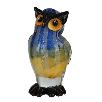 Dale Tiffany Wild Owl Art Glass Sculpture