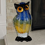 Dale Tiffany Wild Owl Art Glass Sculpture