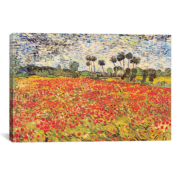 Field of Poppies by Vincent van Gogh Canvas Print