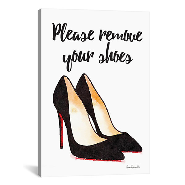 Please Remove Your Shoes by Amanda Greenwood Canvas Print