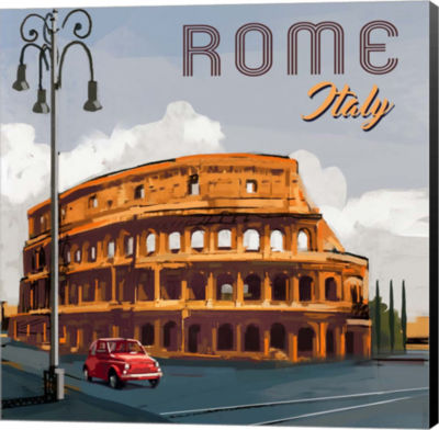 Metaverse Art Rome Museum Wrap Canvas Wall Art