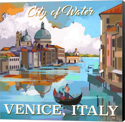 Metaverse Art Venice; Italy Museum Wrap Canvas Wall Art