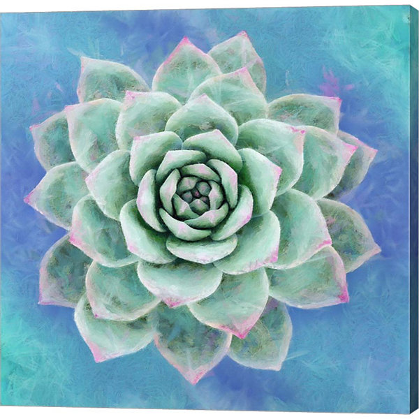 Metaverse Art Succulent I Gallery Wrap Canvas WallArt