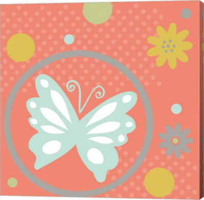 Metaverse Art Butterflies And Blooms Tranquil Viigallery Wrap Canvas Wall Art