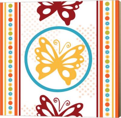 Metaverse Art Butterflies and Blooms Playful IX Gallery Wrap Canvas Wall Art