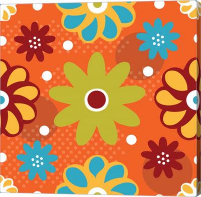 Metaverse Art Butterflies and Blooms Playful IV Gallery Wrap Canvas Wall Art