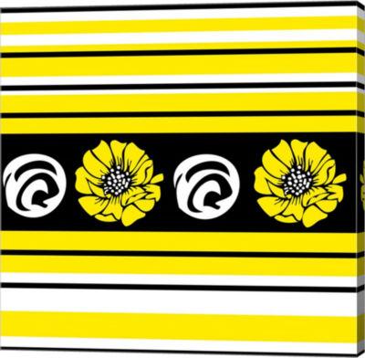 Metaverse Art Bold Yellow Flower II Gallery Wrap Canvas Wall Art