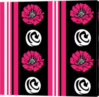 Metaverse Art Bold Pink Flower XII Gallery Wrap Canvas Wall Art