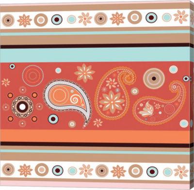 Metaverse Art Boho Chic Rust VII Gallery Wrap Canvas Wall Art