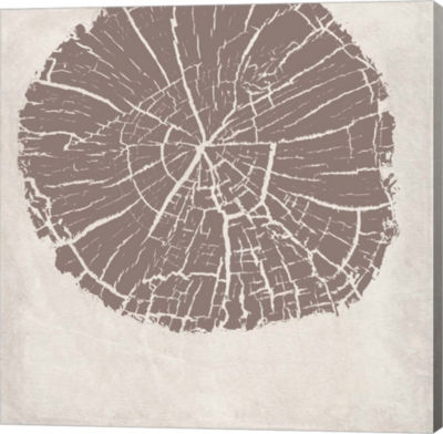 Metaverse Art Tree Stump Taupe Reverse Gallery Wrap Canvas Wall Art