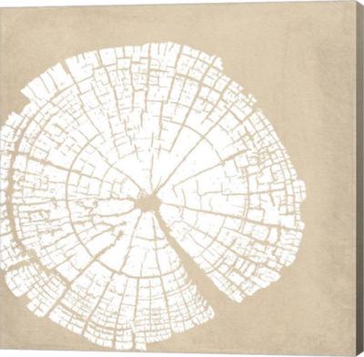 Metaverse Art Tree Stump White Reverse Gallery Wrap Canvas Wall Art