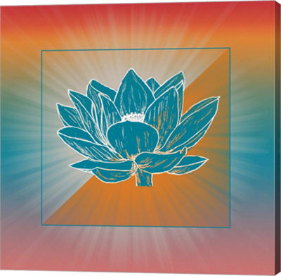 Metaverse Art Lotus Blossom Gallery Wrap Canvas Wall Art