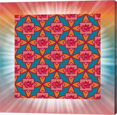 Metaverse Art Lotus Tile Color I Gallery Wrap Canvas Wall Art