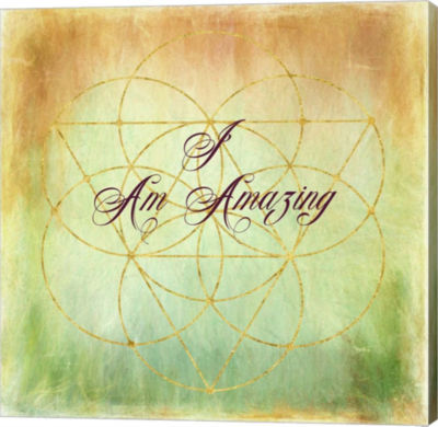 Metaverse Art I Am Amazing Gallery Wrap Canvas Wall Art