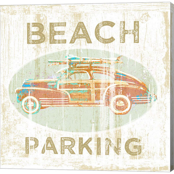 Metaverse Art Beach Parking Gallery Wrap Canvas Wall Art
