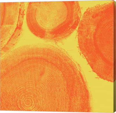 Metaverse Art Orange On Yellow Gallery Wrap Canvas Wall Art