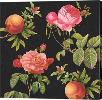 Metaverse Art Pomegranates And Roses Gallery Wrap canvas Wall Art