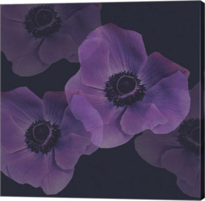 Metaverse Art Purple Anemones I Gallery Wrap Canvas Wall Art